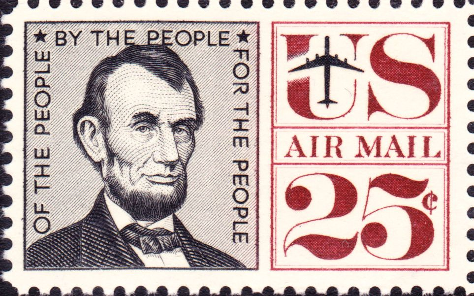 File Abraham Lincoln Airmail 1960 Issue 25c Jpg