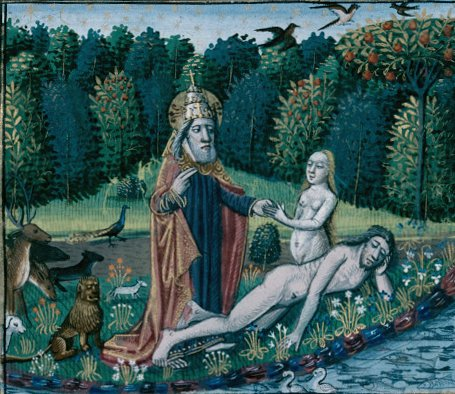 Adam-eve-priest-animals-river