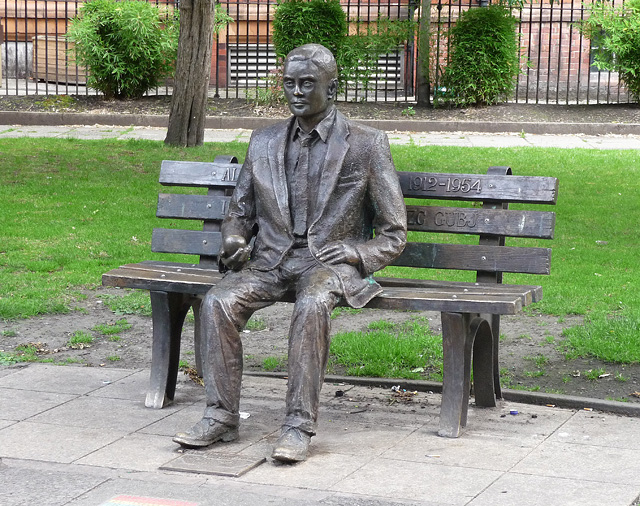 Statue of Alan Turing in Sackville Gardens, Manchester