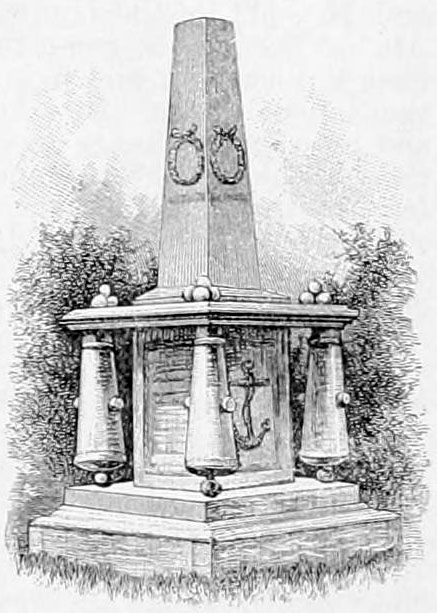 Mexican War Monument to Midshipmen Shubrick, Clemson, Hynson, and Pillsbury Appletons' Shubrick, John Templar - Midshipmen's Monument.jpg
