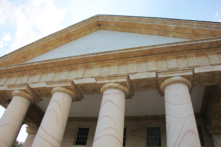 Arlington House - portico and pediment - 2011 - Flipping Houses 101