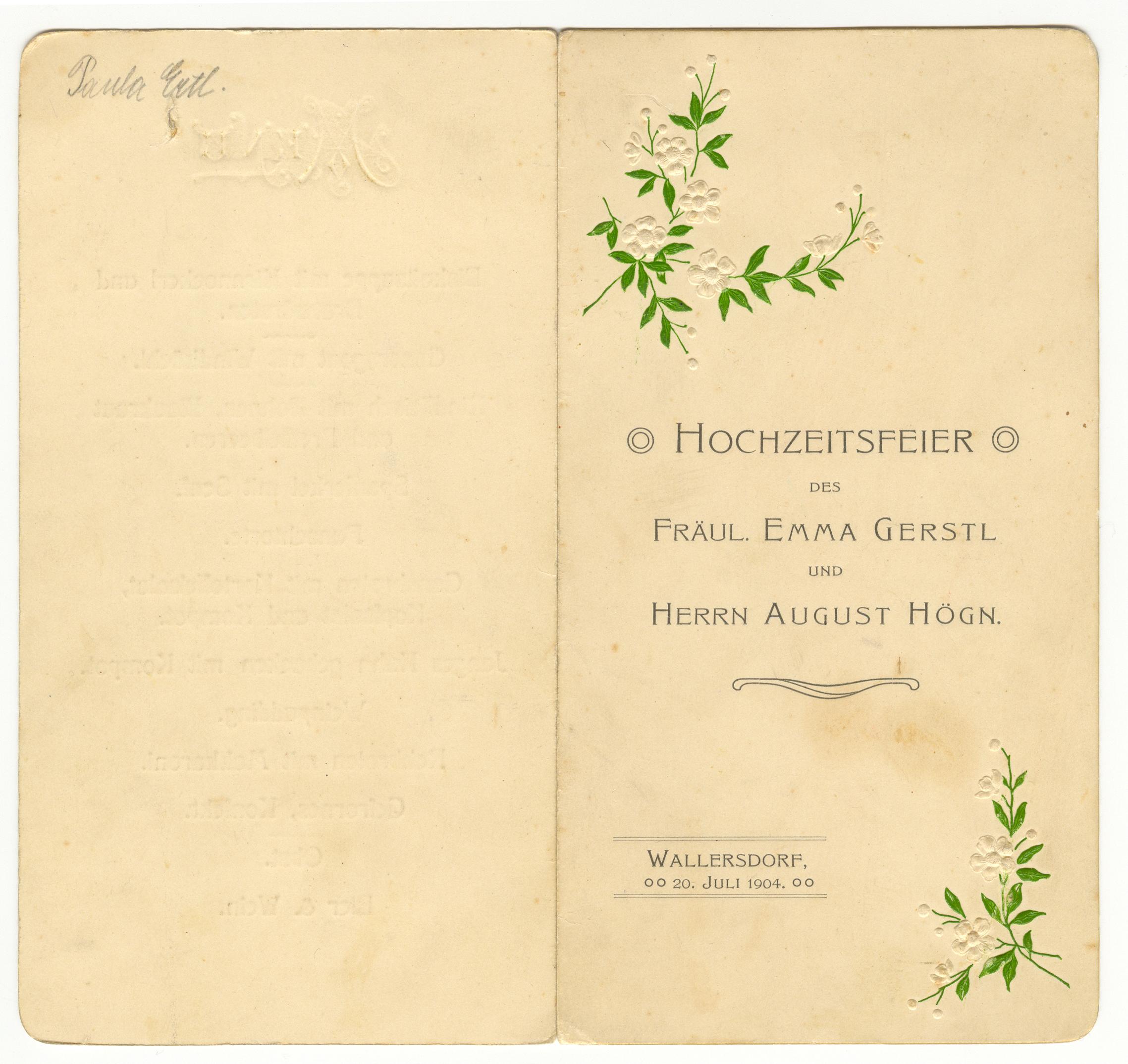 File August Hogn Fotoarchiv Hochzeitseinladung Jpg Wikimedia Commons
