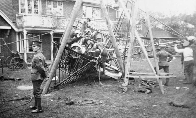 Aviation in Britain Before the First World War; Lebaudy airship crash RAE-O1018