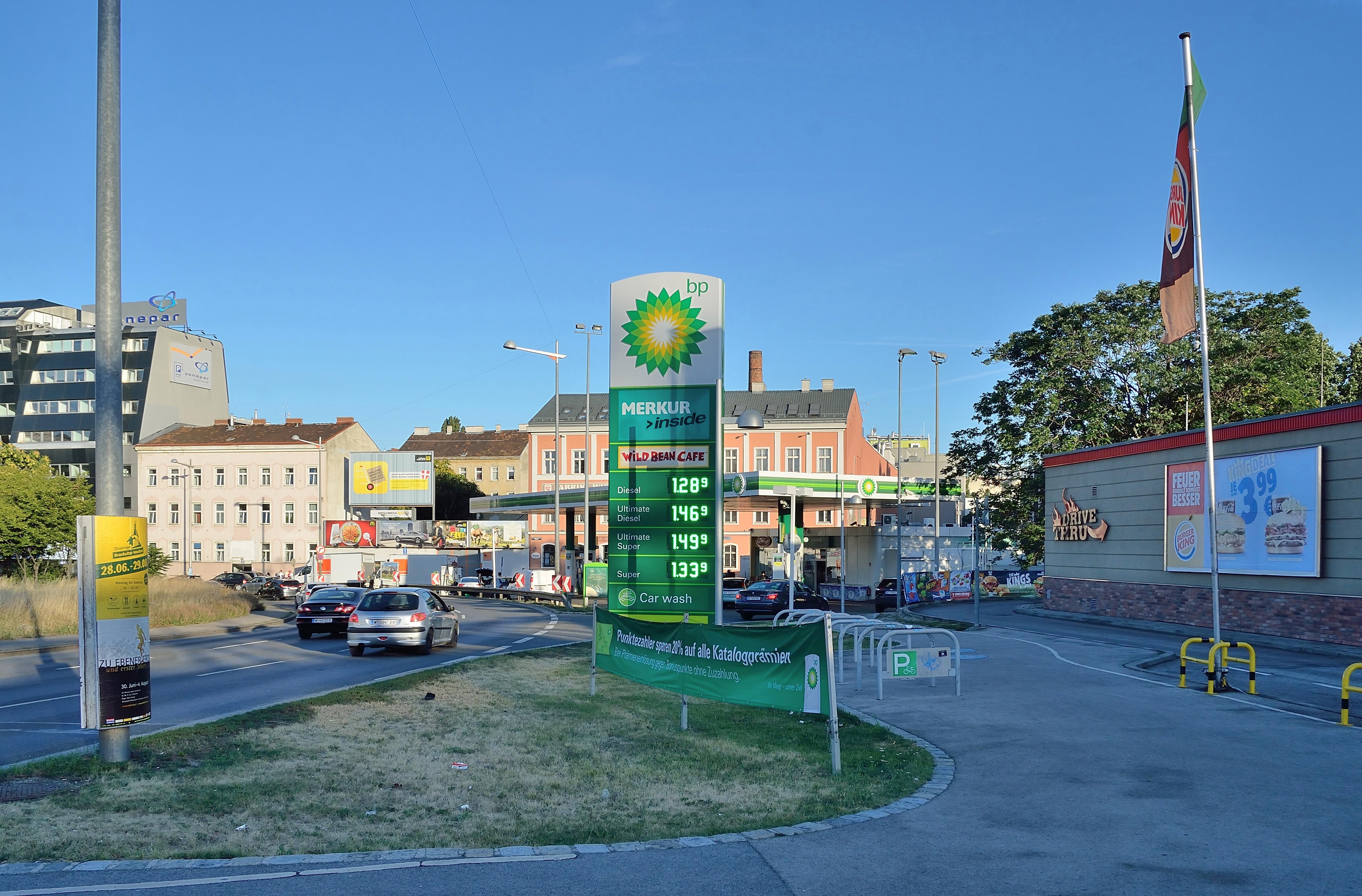 Een tankstation van BP
