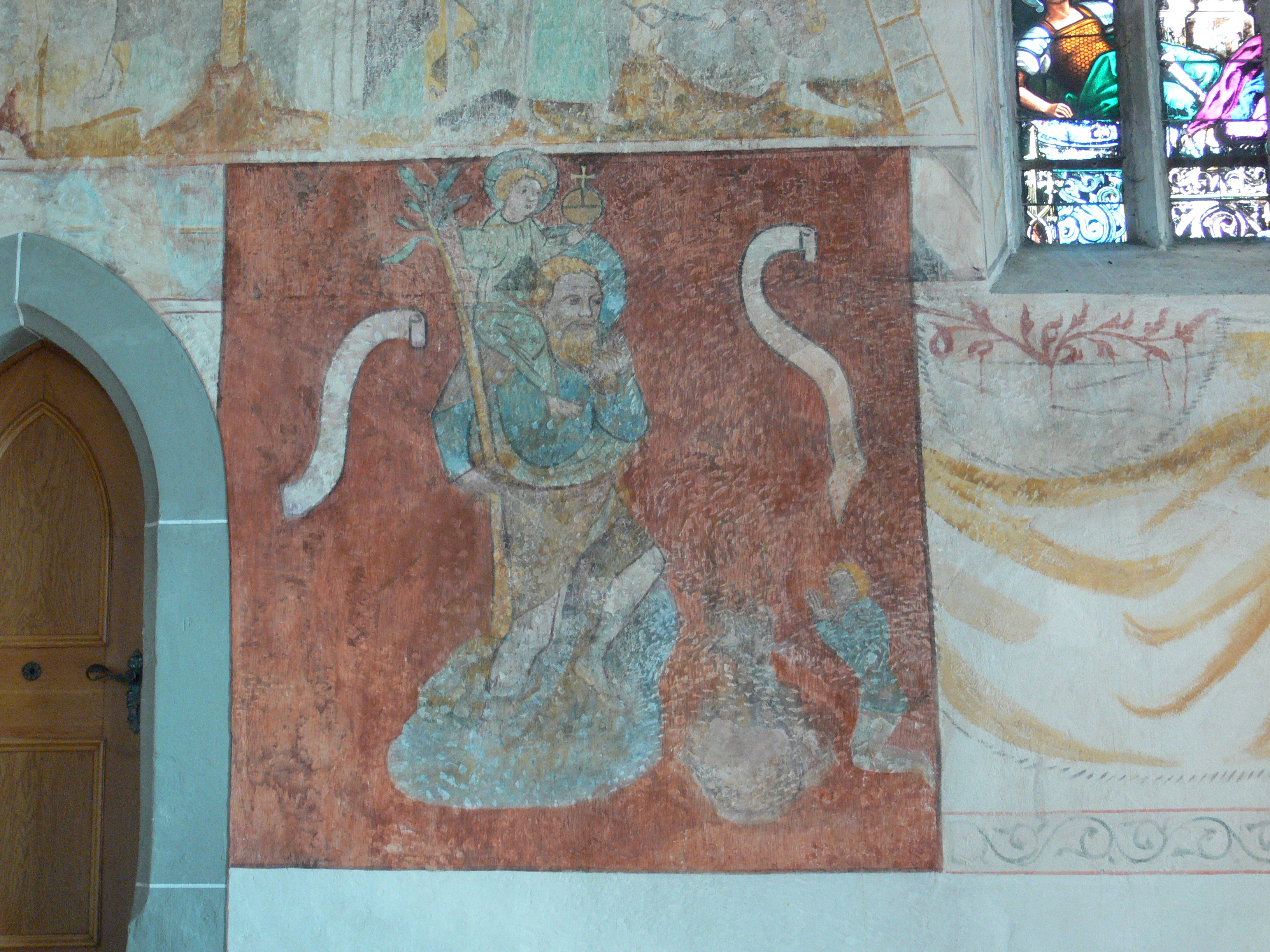 File:Bermatingen Pfarrkirche Fresken Chorraum Rückwand links ... | {Rückwand 17}