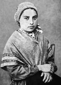 Depiction of Bernadette Soubirous