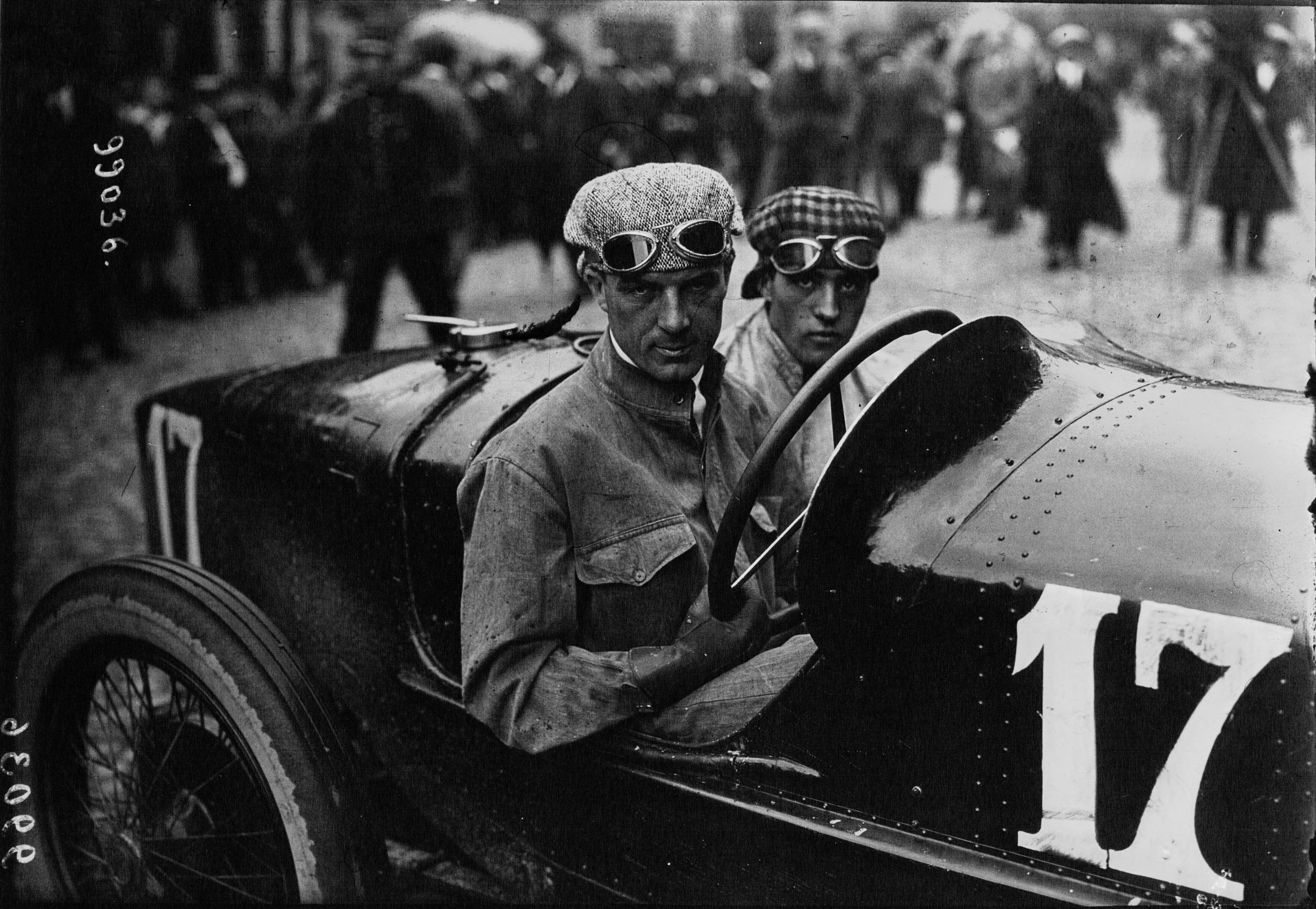 Biagio Nazzaro al Gran Premio di Francia nel 1922.