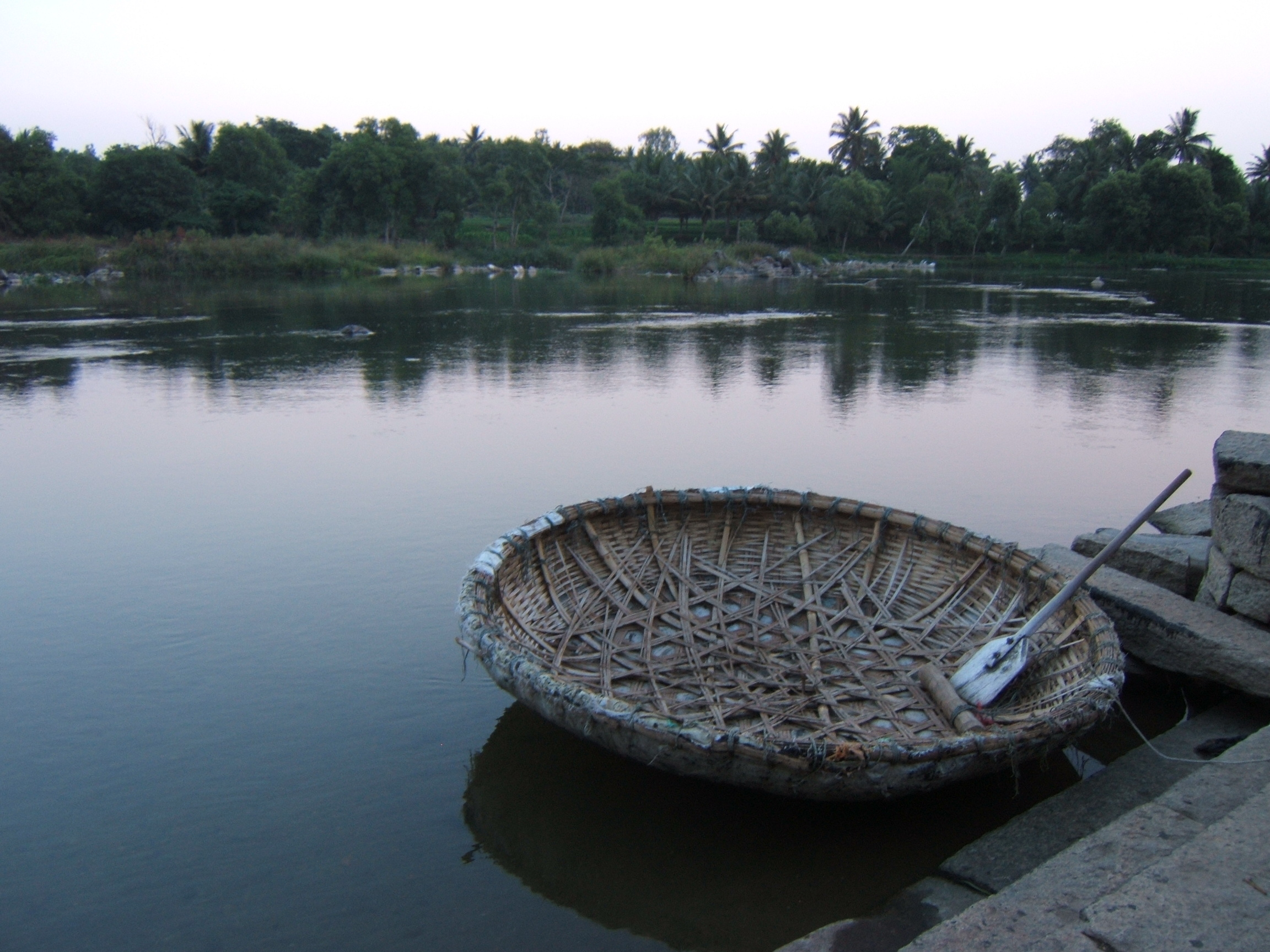 Kaveri River Description Boat at Kaveri river at Shrirangapatnam JPG