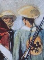 Han Chinese man wears a queue in compliance with Manchu custom during the Qing dynasty