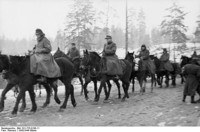 Mounted soldiers of Army Group North