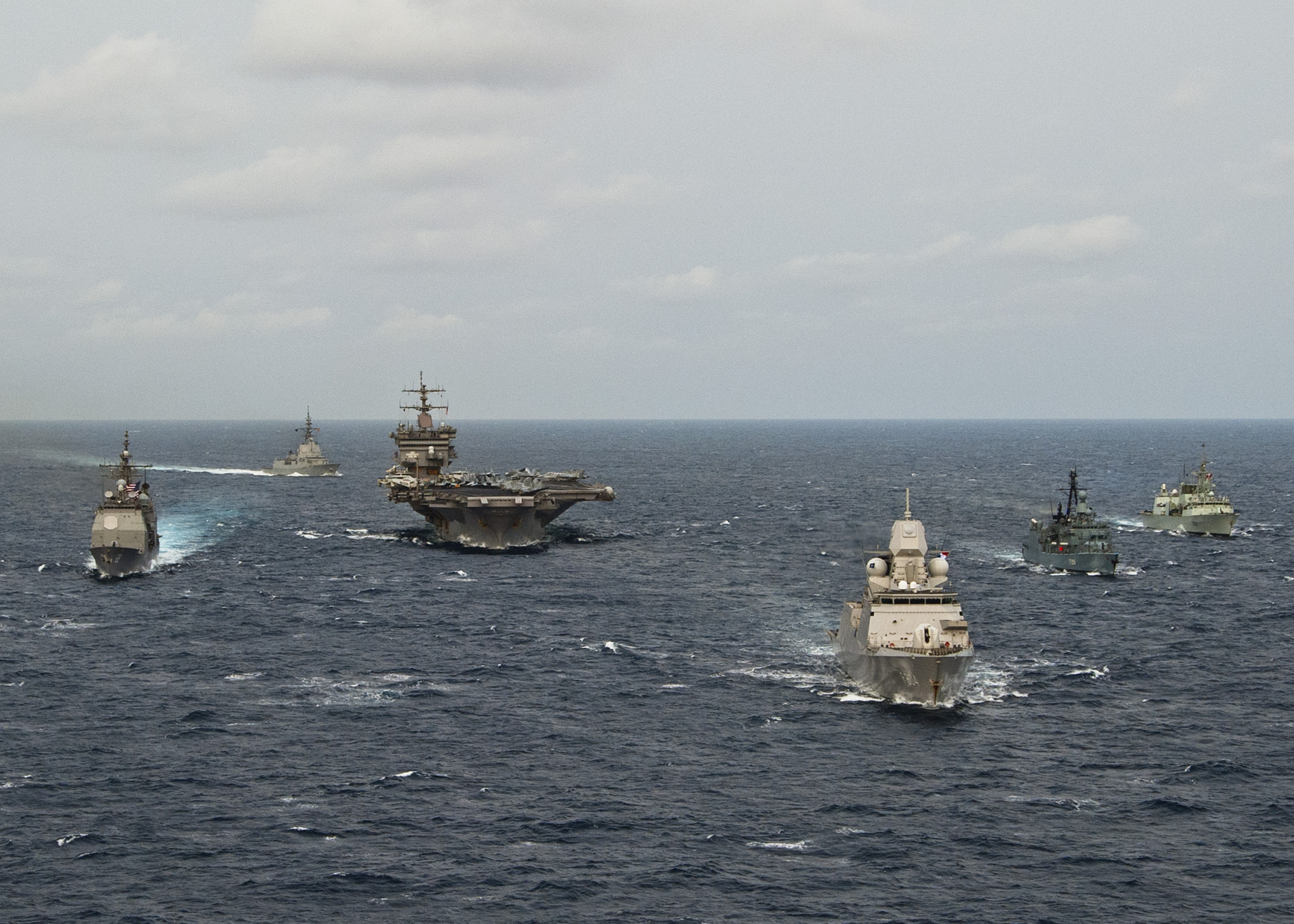 Global Federation National News Network! Carrier_Strike_Group_12_-_Standing_NATO_Maritime_Group_1_PASSEX_March_2012