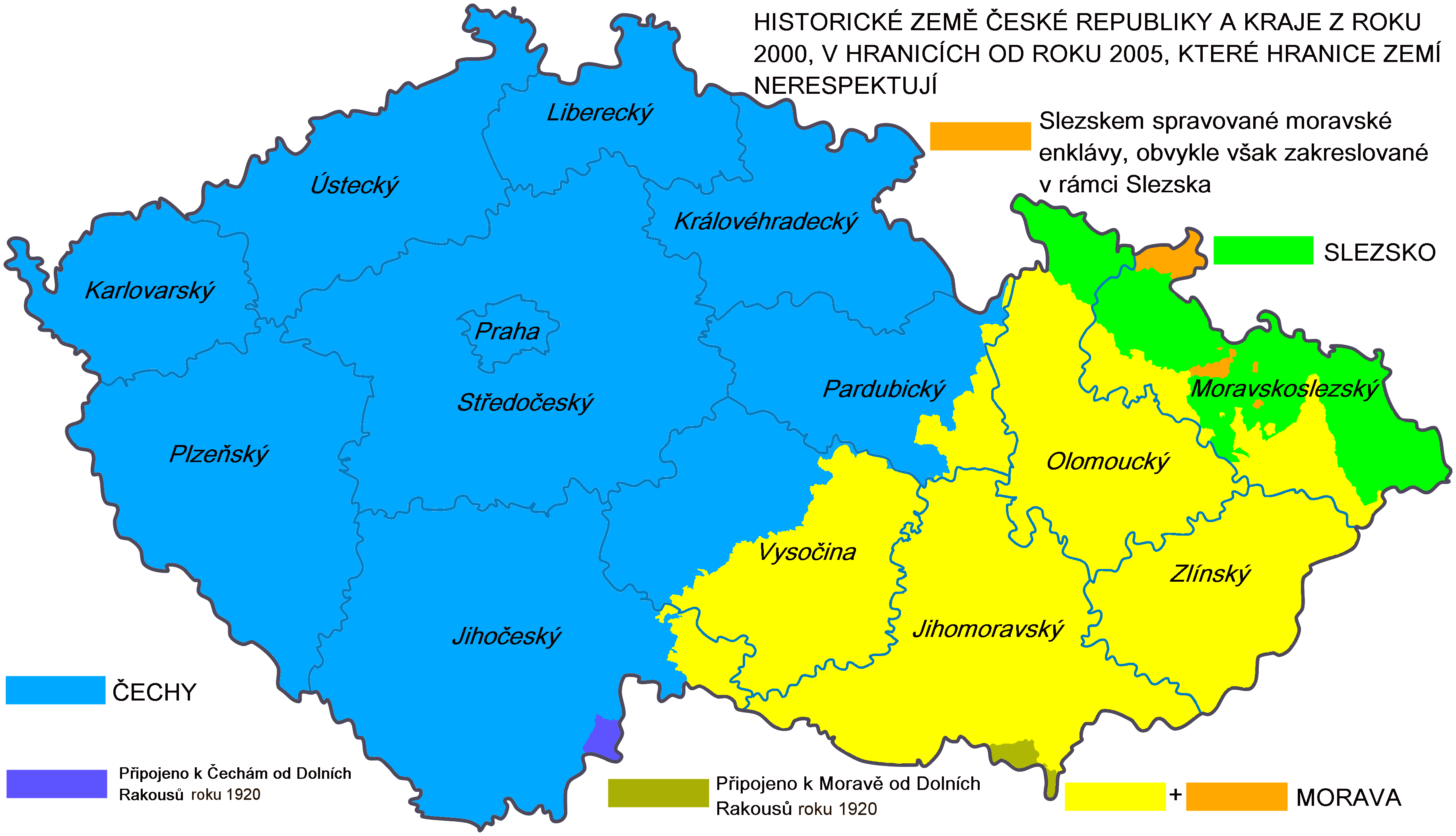 Soubor:Ceska republika - Historicke zeme a soucasne kraje