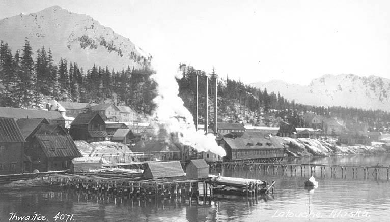 File:Copper company mine and dock, LaTouche Island, Prince William Sound, ca 1912 (THWAITES 135).jpeg