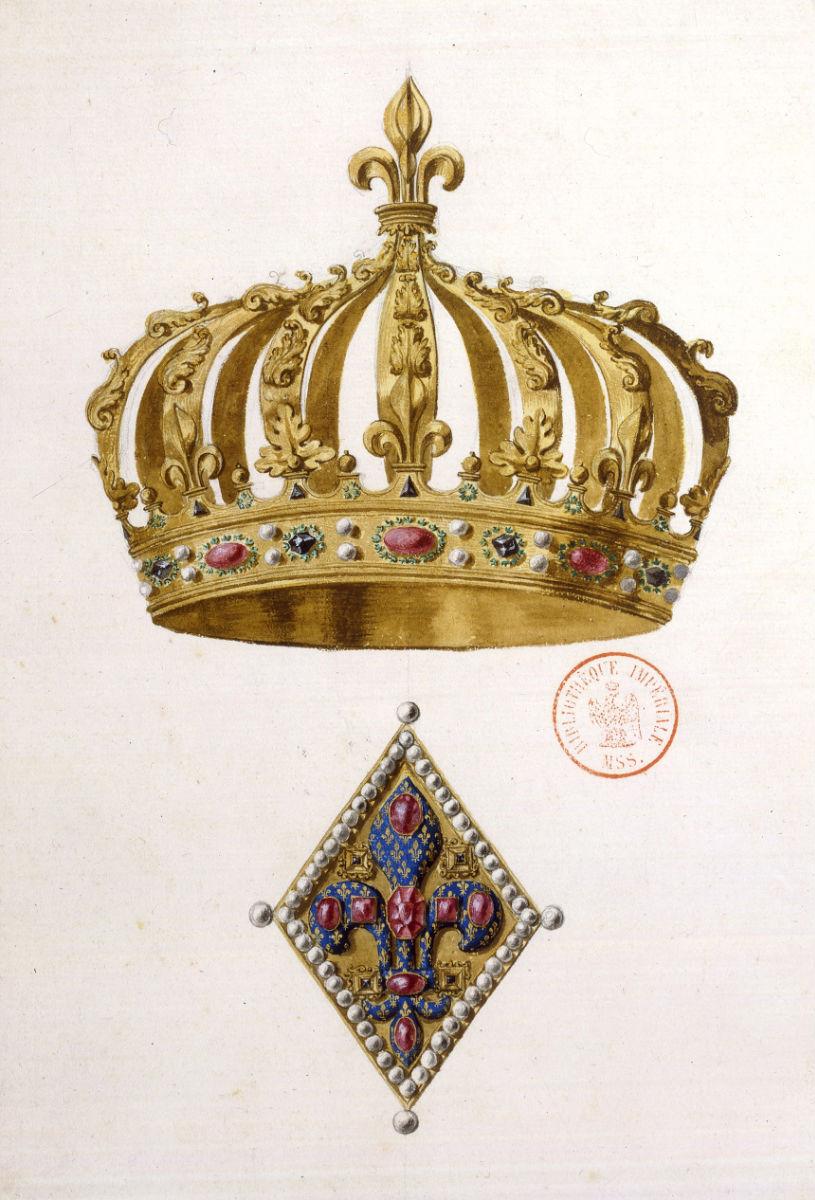 La Couronne France  city photos : Fichier:Couronne Henri IV et fermail Dom Félibien — Wikipédia
