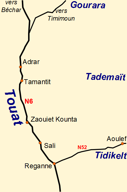 Towns in the Touat Region