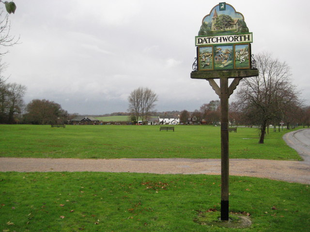Datchworth Green, The village sign - geograph.org.uk - 1601163