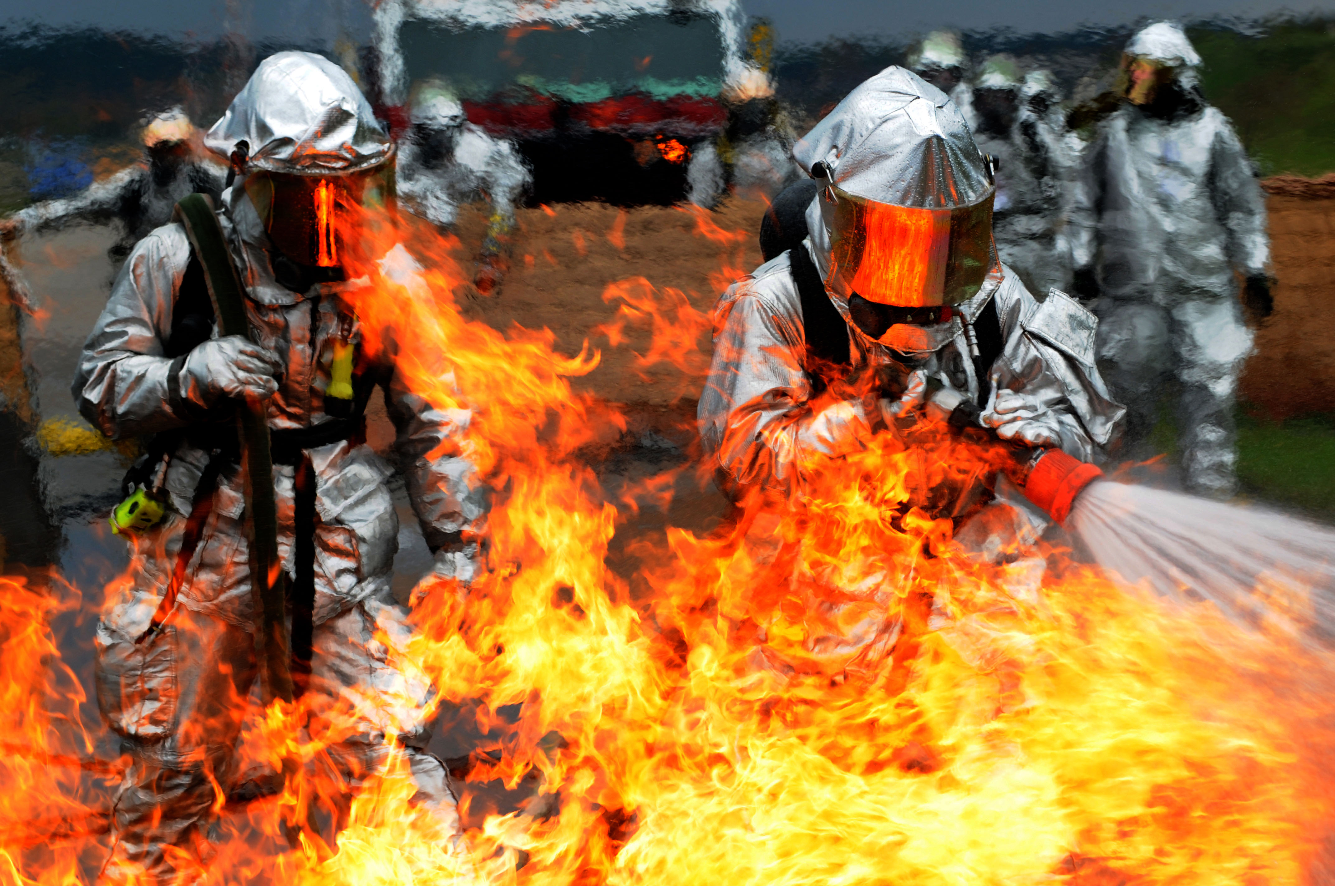a look at the different categories of fire fighters From the top of their fire-resistant helmets to the bottom of their steel-toed boots, modern firefighters wear sophisticated materials and apparatus to keep them safe in extremely dangerous conditions.