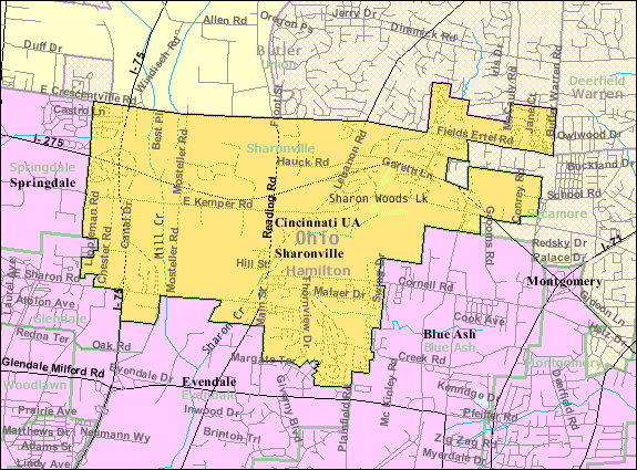 FileDetailed Map Of Sharonville Ohiopng Wikimedia Commons - Detailed map of ohio