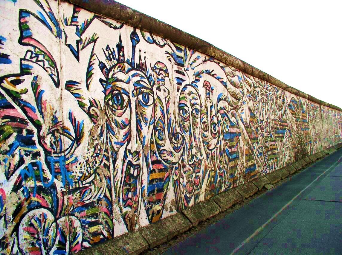 Berlin Wall Inside Car Seat
