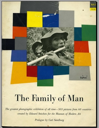 "File:Front page of exhibition ""The Family of Man"" catalog.jpg"