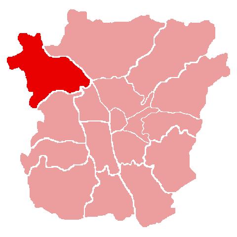 Lage des Bezirks Gösting