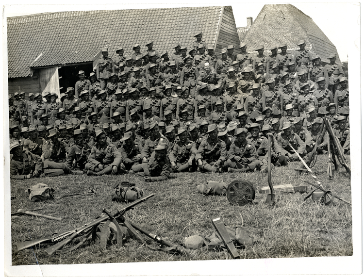 File:Group of 2-2 Gurkhas who have not been absent from duty (Photo 24-138).jpg