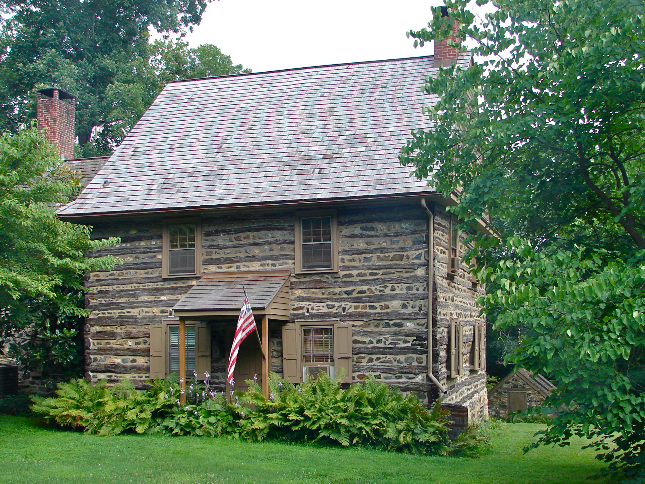 Harlan log house wikiwand for Colonial log homes