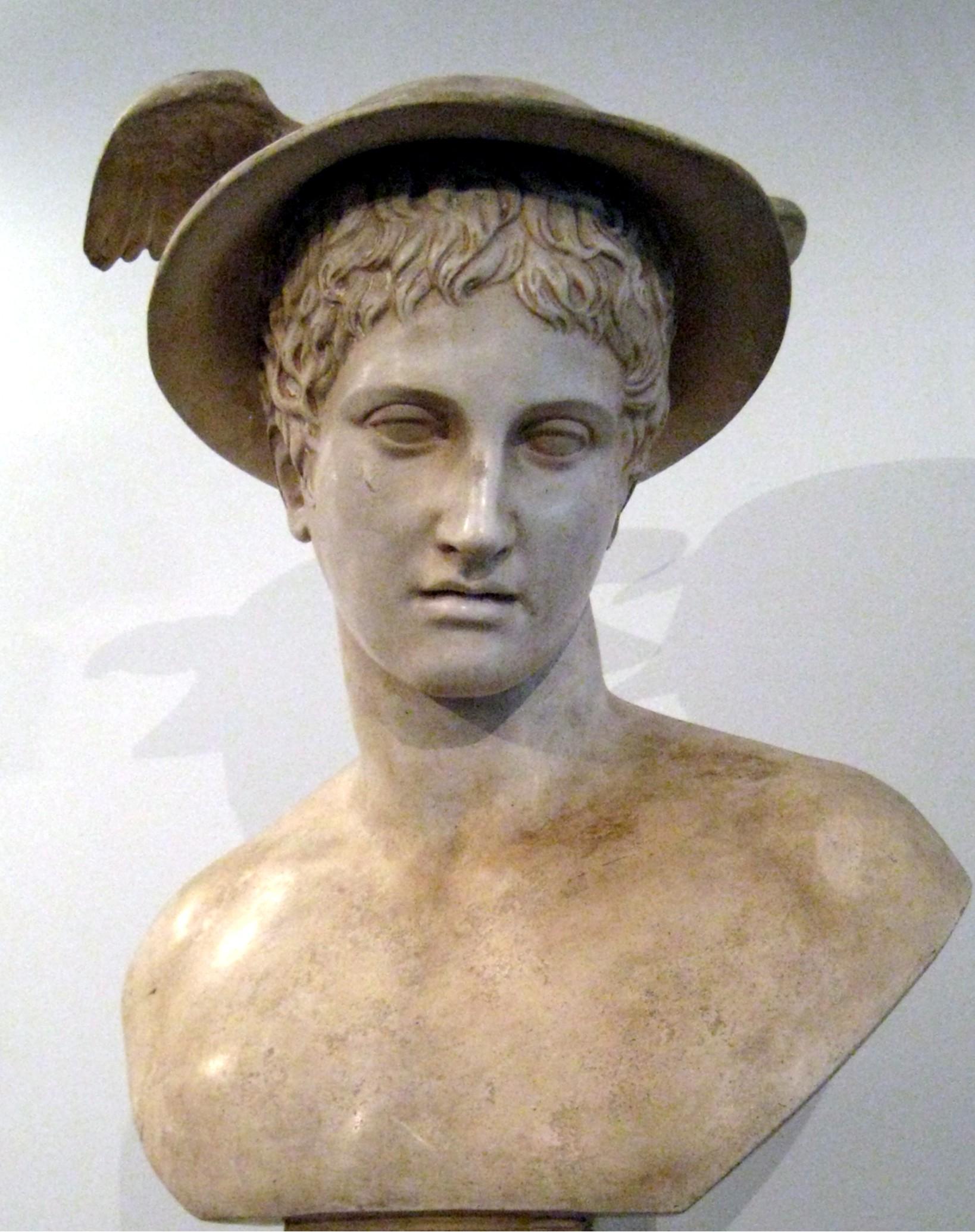 Descri  231   227 o Hermes pushkin 01 JPGHermes Statue Face