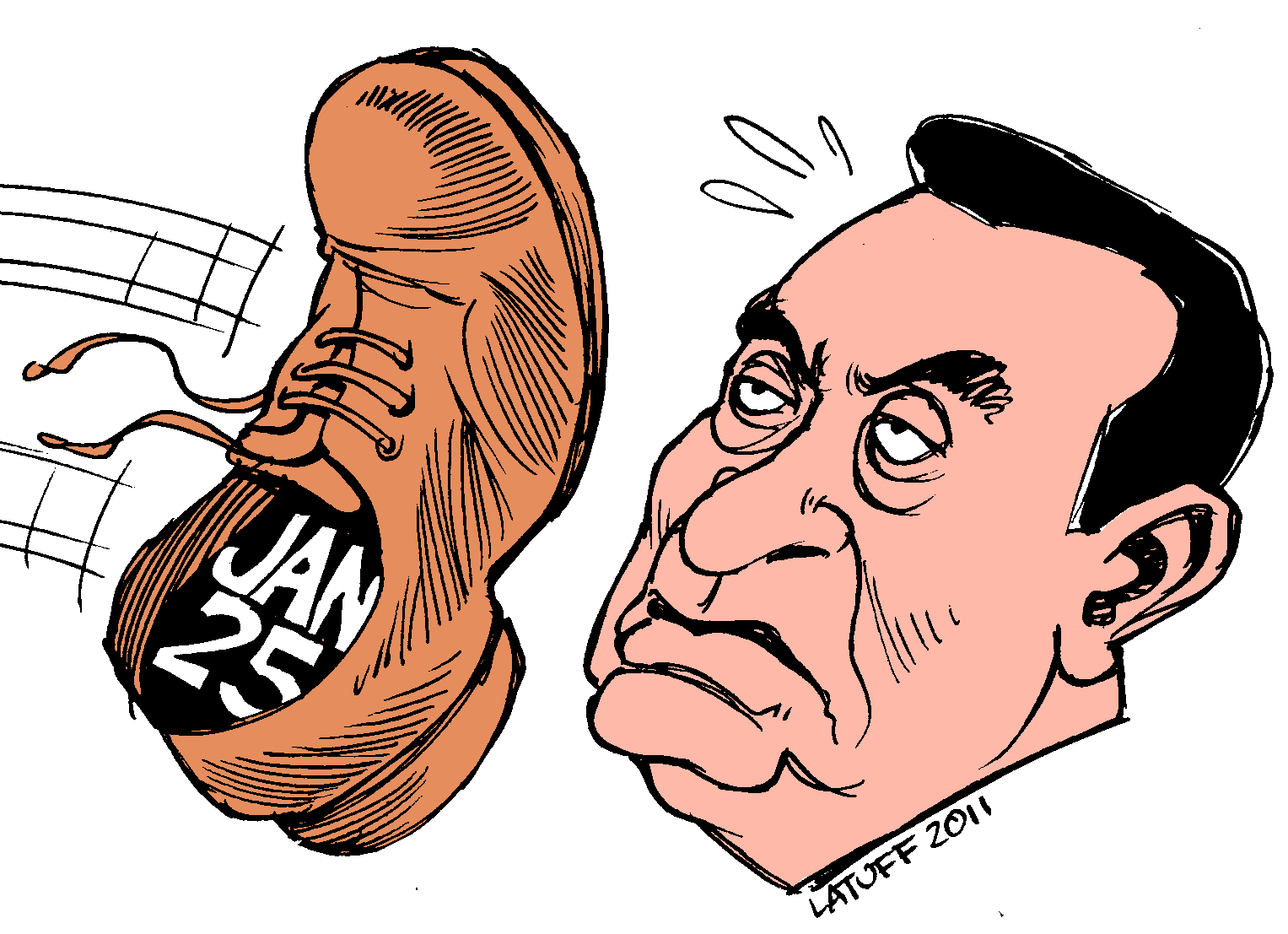 Image result for Hosni Mubarak cartoon
