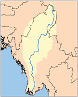 Map of the Ayeyarwady Watershed