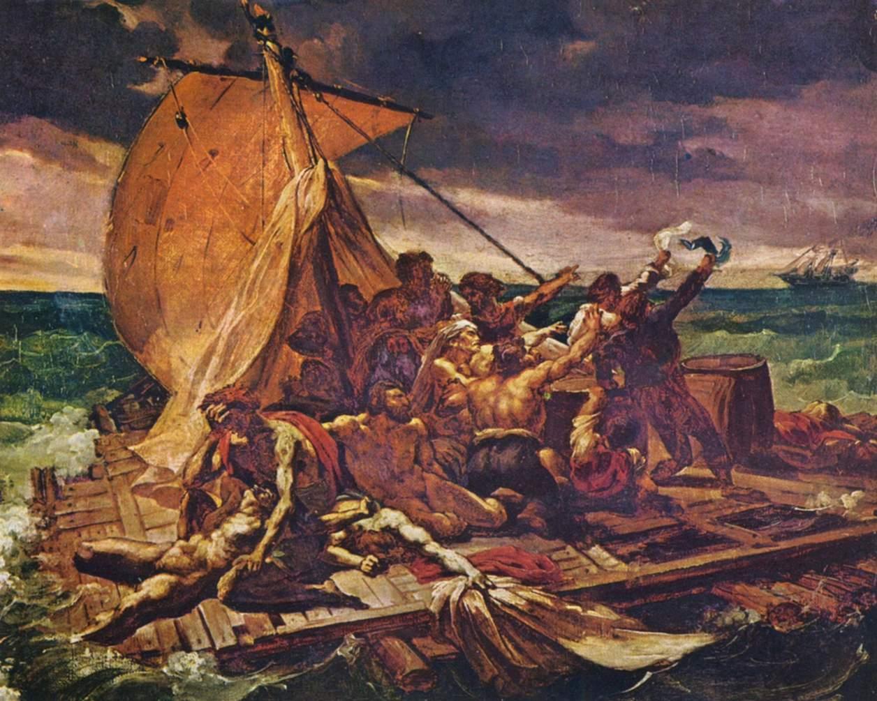 Jean Lous Theodore Géricault - Vorstudie zu Das Floß der Medusa - Quelle: Wikimedia