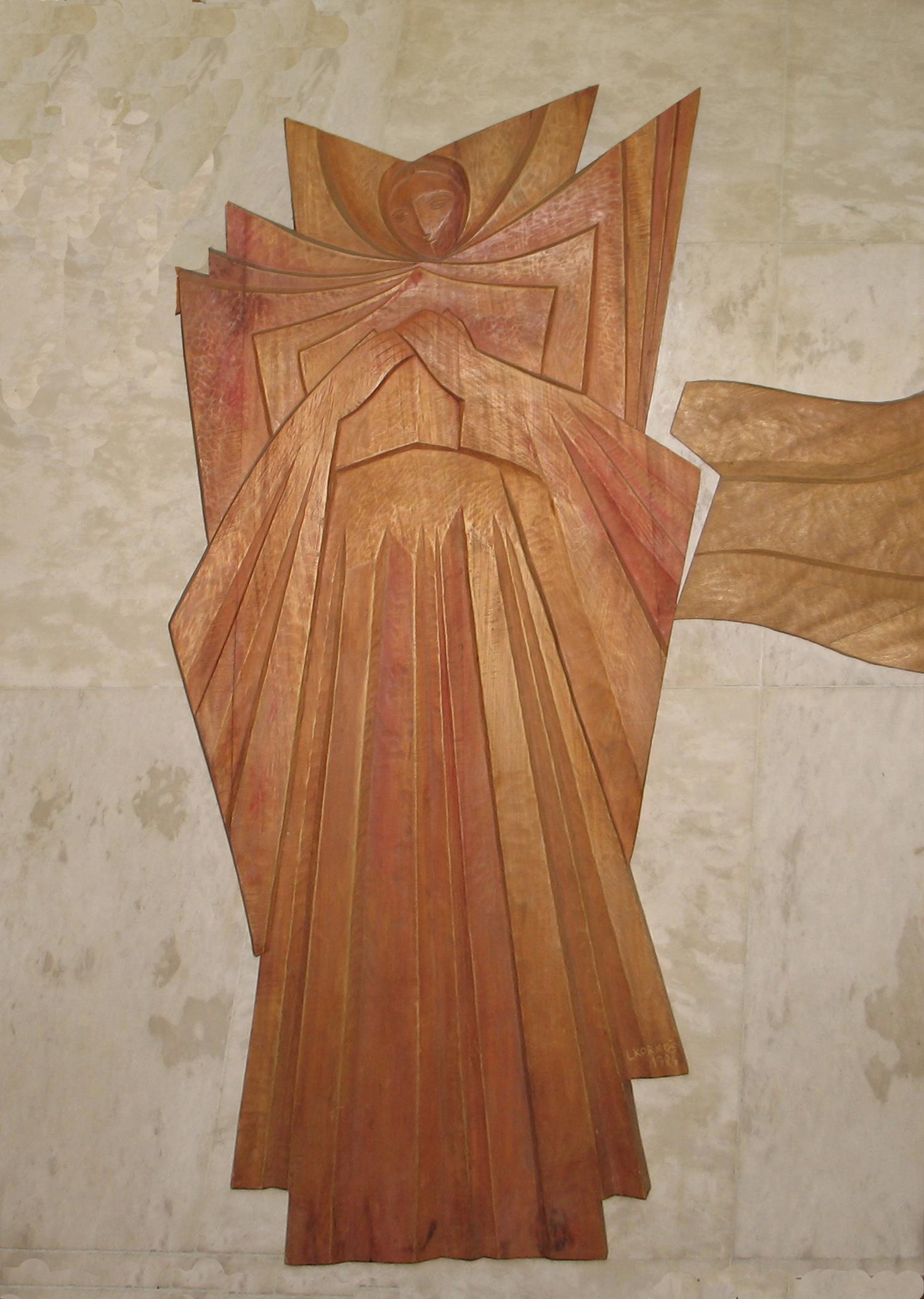 Description korkos ludwik relief drevorezba