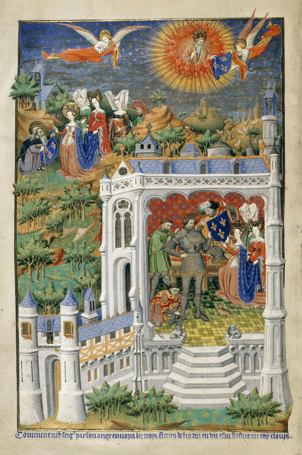 File:Legend of the Fleurs de Lys - Bedford Hours (1414-1423), f.288v - BL Add MS 18850.jpg ...