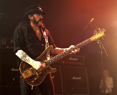 Lemmy during Motorhead's 2011 The World Is Yours Tour Lemmy Kilmister Motorhead in NYC by John Gullo.jpg