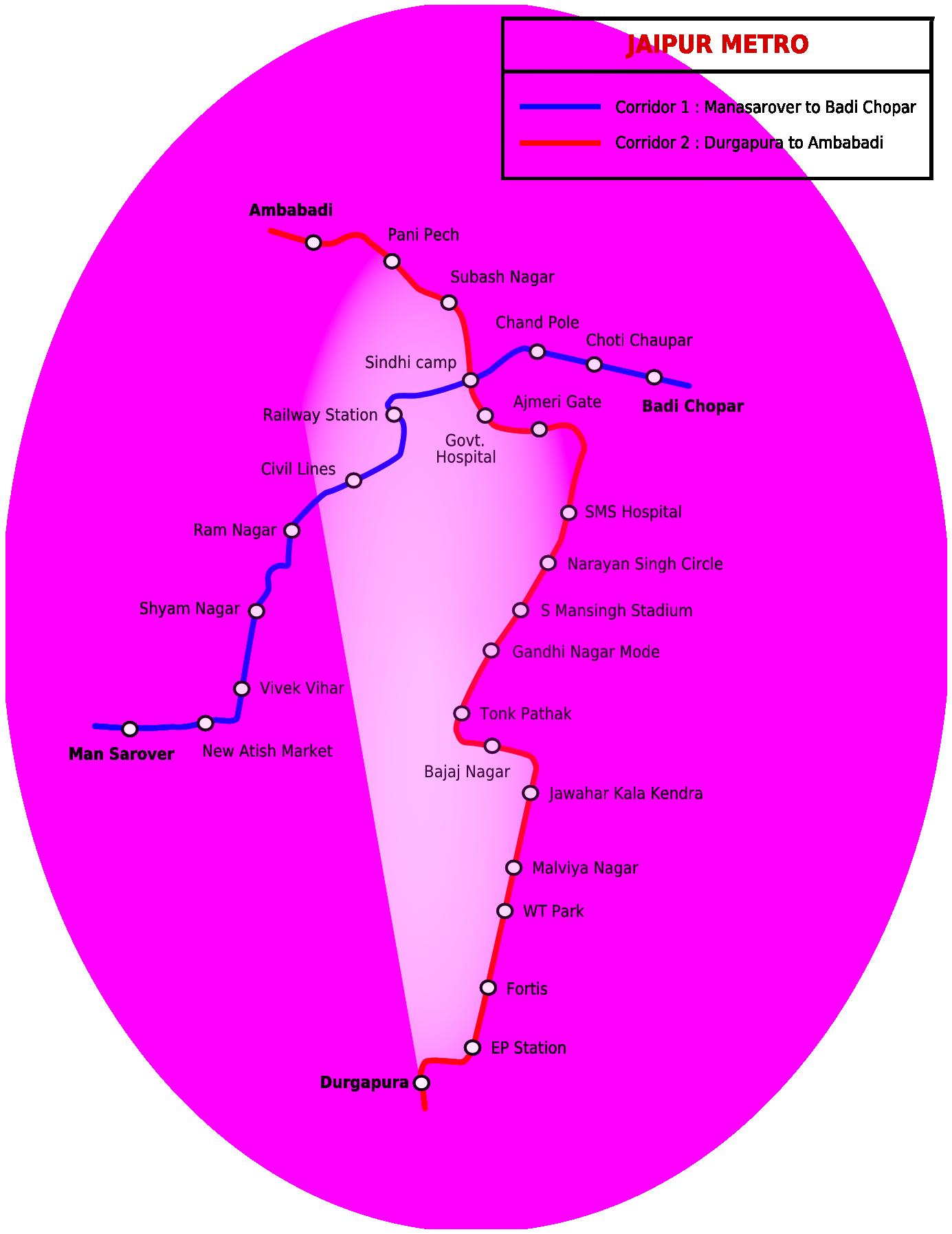 Jaipur Metro ジャイプル 地下鉄