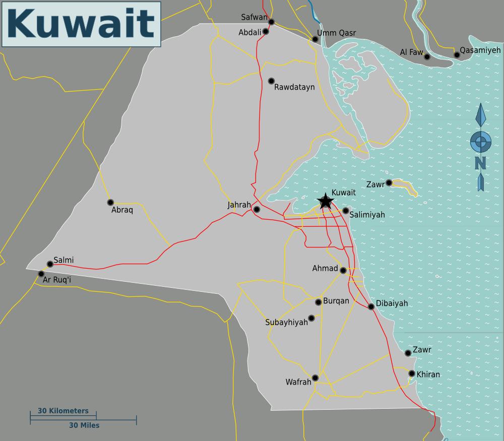 FileMap of Kuwaitpng Wikimedia Commons
