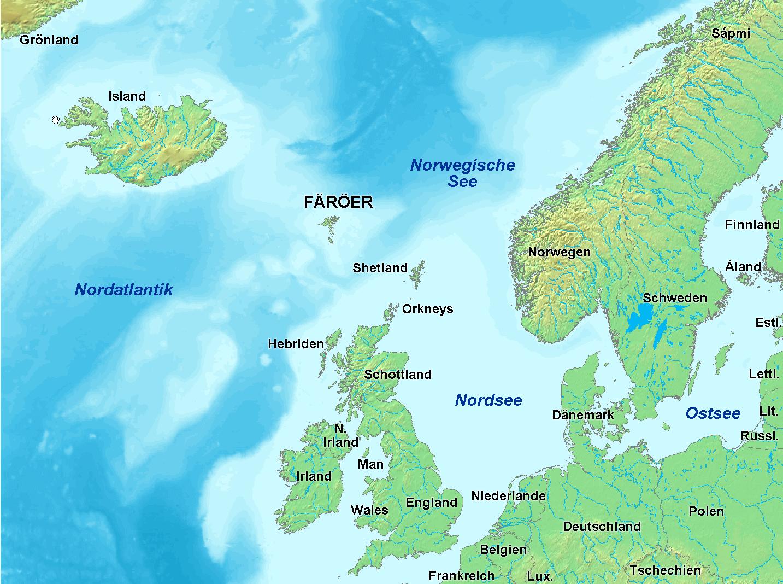 European Island Map