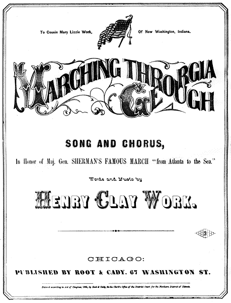 Marching Through Georgia - Sheet Music
