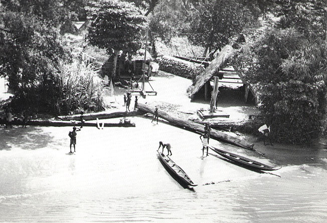 Maroon village, Suriname River, 1955