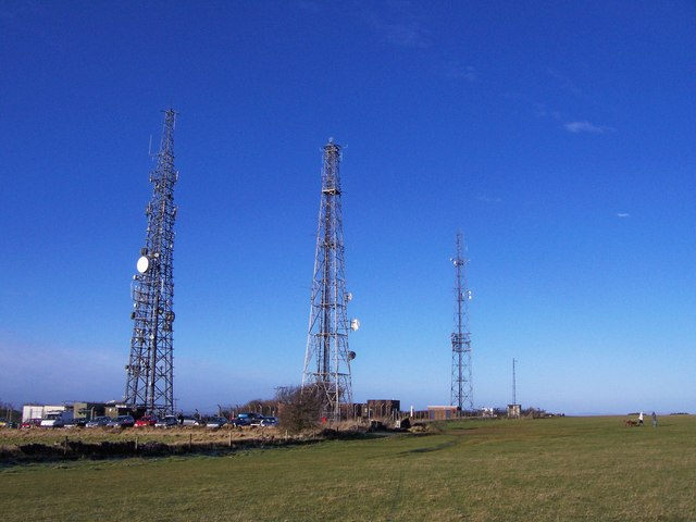 Masts and Car Park on Cleeve Hill - geograph.org.uk - 755402