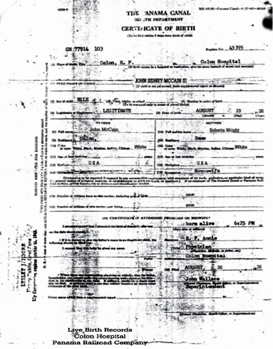 Filemccain Certificate Of Birthg Wikimedia Commons