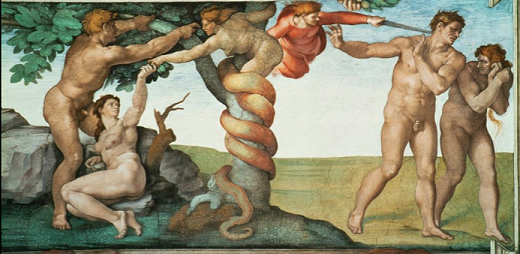 File:Michelangelo temptation of adam and eve.png