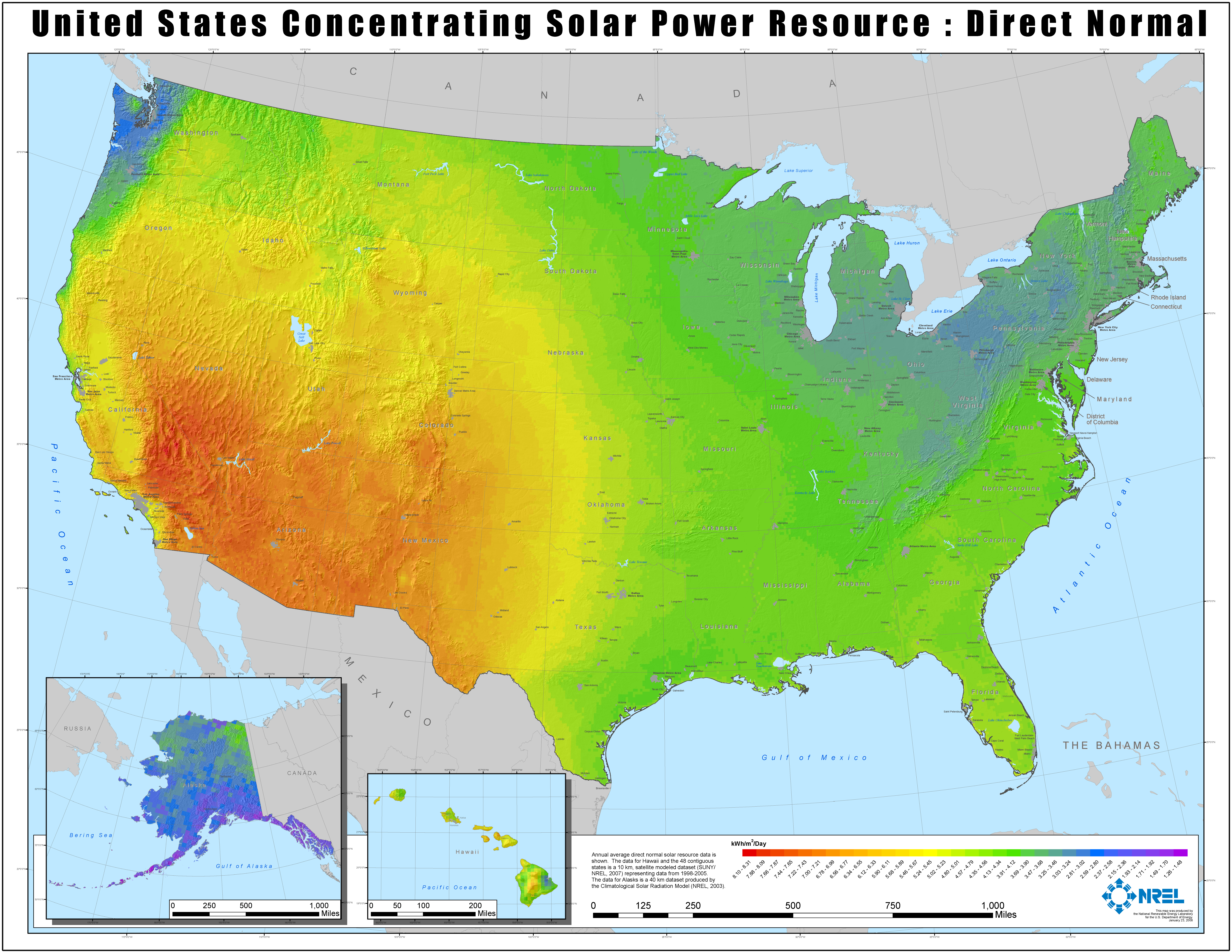 FileNREL USA CSP Map Hires Jpg Wikimedia Commons - Renewable energy sources by location in us map