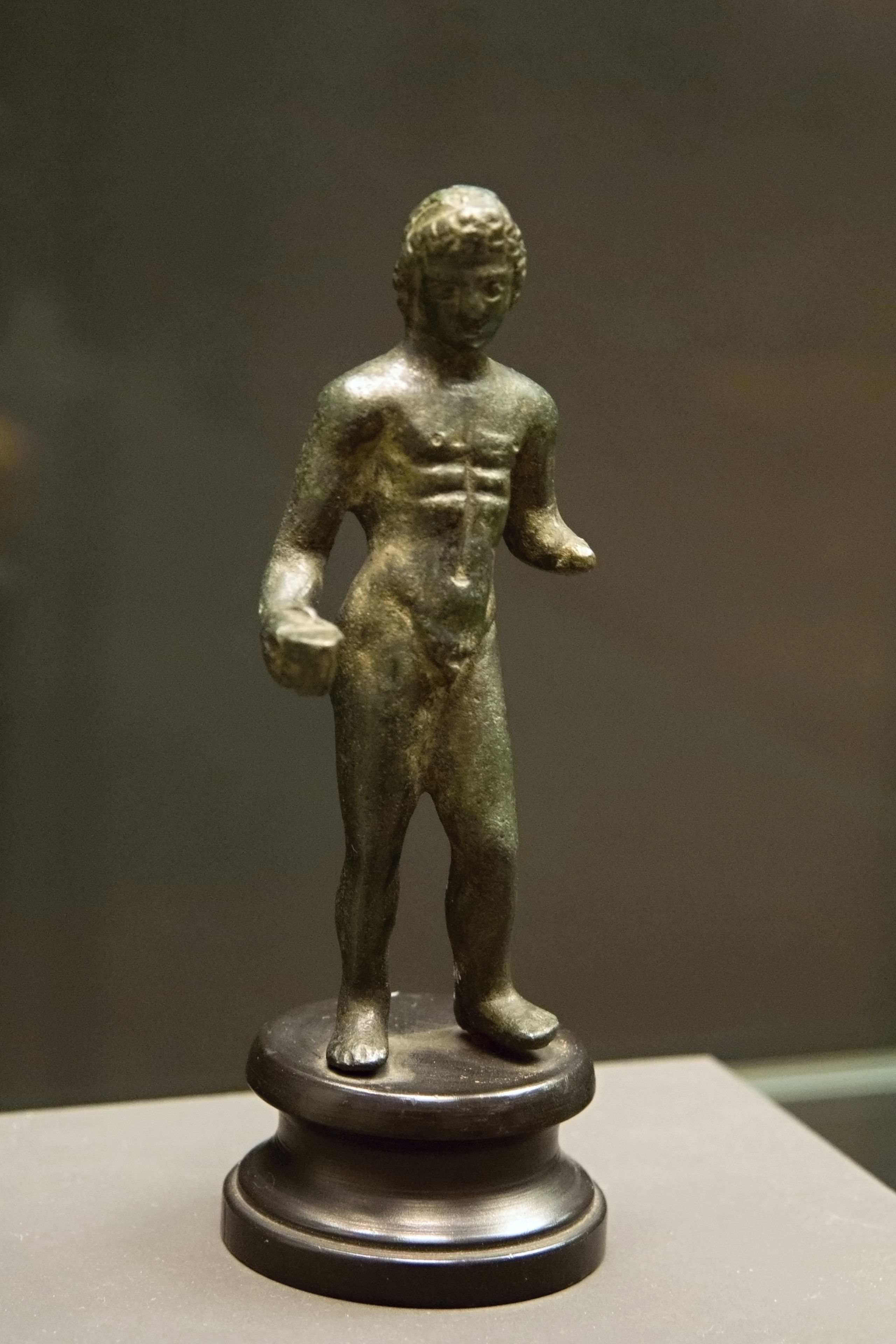 File Naked Young Man Small Bronze Hellenistic Period
