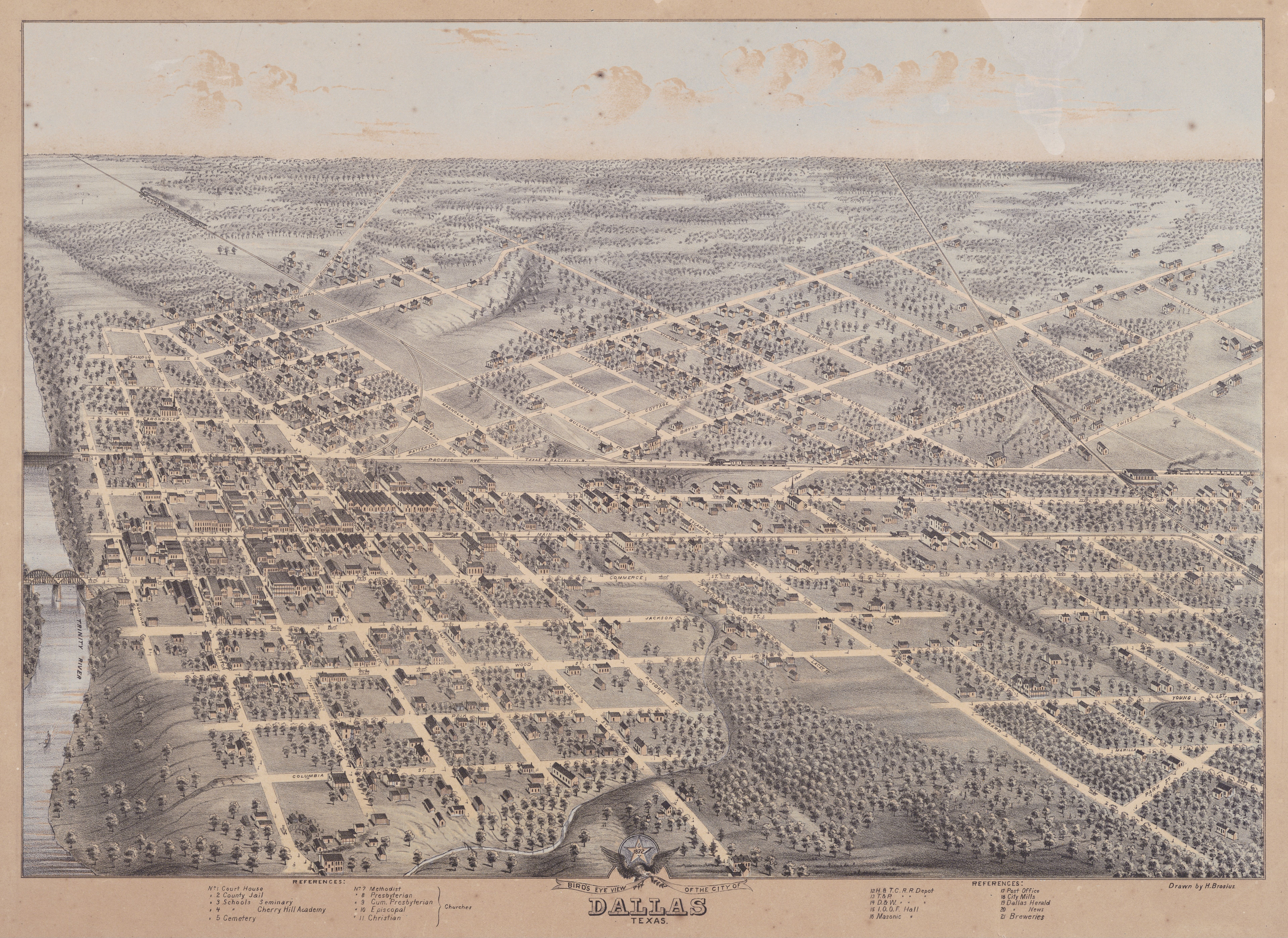 Old Dallas Map.File Old Map Dallas 1872 Jpg Wikimedia Commons