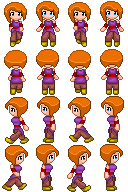 Orange haired girl sprite