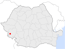 Location of Oravița
