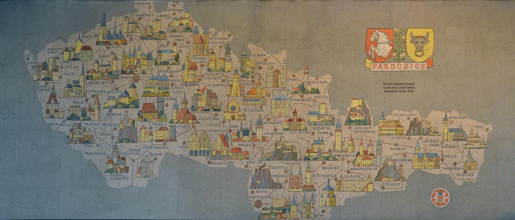 File Pardubice Hlavni Nadrazi Mapa Ceskoslovenska Jpg
