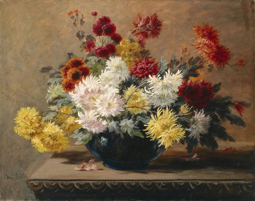 Vases File Paul Biva Astern In Vase Oil On Canvas 60 X 74 Cm