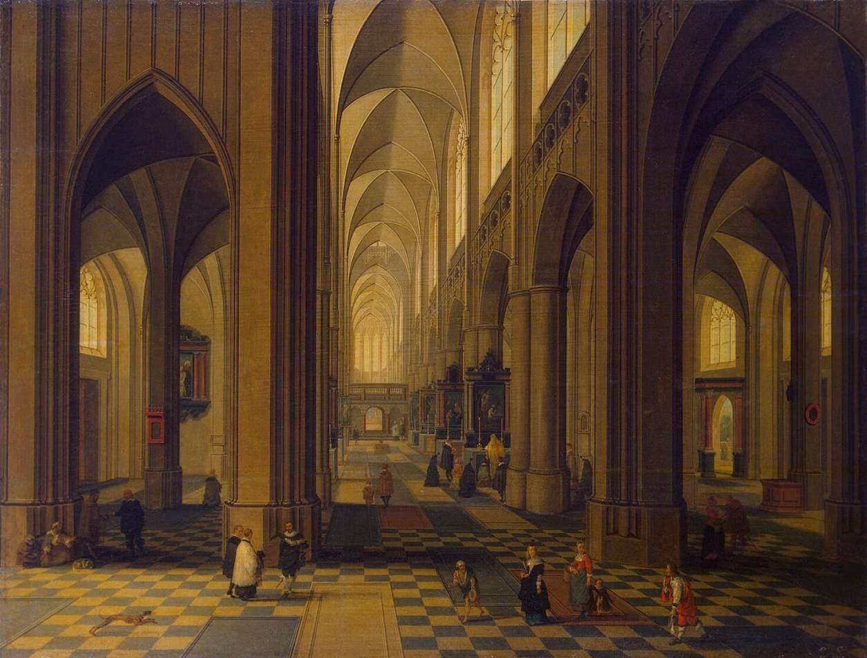 File peeter neeffs ii interior of the antwerp for Interieur antwerpen